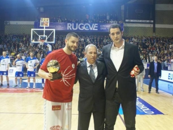 Dardan Berisha is the MVP of EUROHOLD Balkan League
