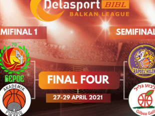 Just four teams are left to challenge for the title in Delasport Balkan League