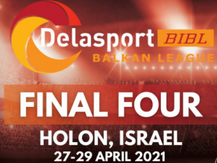 Delasport Balkan League Final Four 2021 goes to Holon