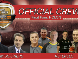 Referee nominations for the Final 4 of Delasport Balkan League