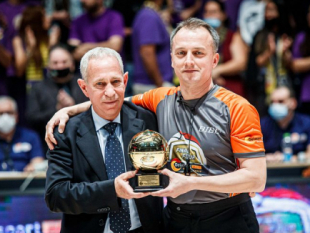 Aleksandar Milojevic celebrated by Delasport Balkan League for his successful officiating career