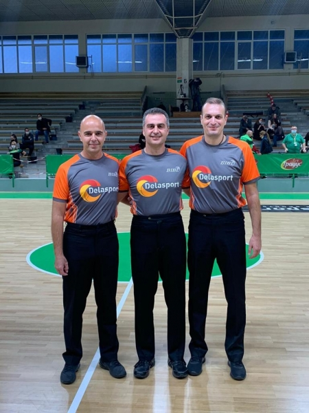 The new officiating shirts made their debut in Delasport Balkan League